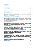 Vplyv využívania nástrojov Business Intelligence na výkonnosť podnikov