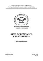 Acta oeconomica Cassoviensia