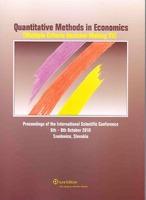 Quantitative methods in economics