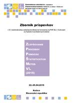 Zlepšovanie procesov pomocou štatistických metód VI. (2015)