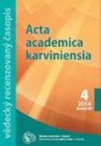 Acta academica karviniensia