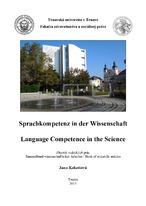 Sprachkompetenz in der Wissenschaft