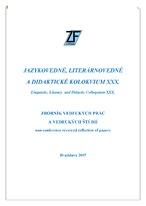 Jazykovedné, literárnovedné a didaktické kolokvium XXX.