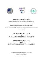 Ekonomika, financie a manažment podniku - rok 2015